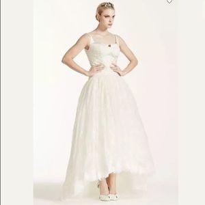 NWT Truly Zac Posen Lace High Low Wedding Dress